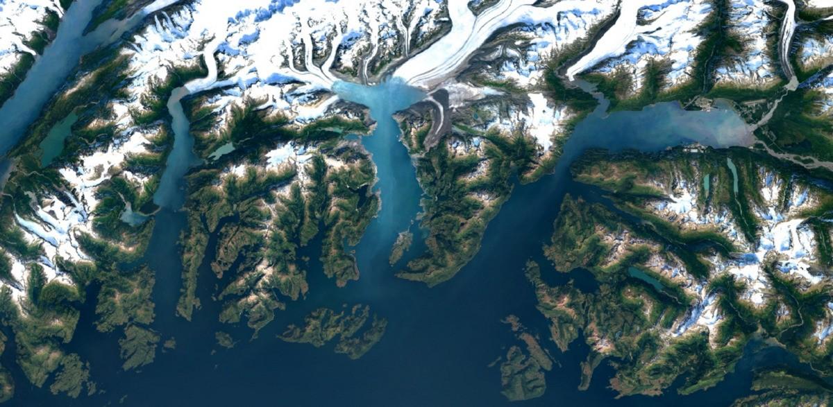 Landsat-Google Maps Screen Shot 2016-06-17 Columbia Glacier